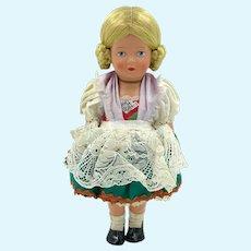 """Vintage Reinische Gummi Schildkrot Tortulon Celluloid Doll w Tag 10"""""""