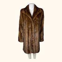 Vintage 1980s Louis Feraud Female Mink Coat Size M L