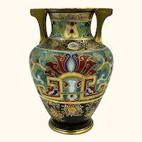 "Antique Nippon Porcelain Vase Hand Painted Enamel Morimura Bros 7.25"""