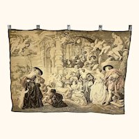 """Vintage French Tapestry Courtesans After Rubens Machine Made in France 27"""" x 38"""""""