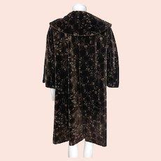 Vintage 1950s Velvet Coat Lydia Montreal Ladies Size L