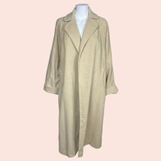 Vintage 1950s English Cashmere Coat Loomed in England Size L