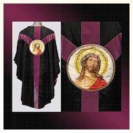 Vintage Catholic Priest Chasuble Vestment Good Friday Easter