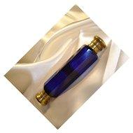 Antique Victorian Cobalt Blue, Double-Ended Perfume Bottle