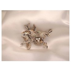 Rare House of Schrager Sterling Bird Brooch