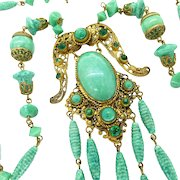 Neiger Brothers Peking Glass, Art Deco Necklace Made In Czechoslovakia