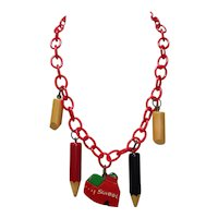 Martha Sleeper School Days Bakelite Necklace