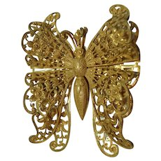 RESERVED EG  Amazingly Beautiful Large Miriam Haskell BUTTERFLY Pin