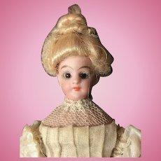 Simon & Halbig (S&H) Original, bisque head Dollhouse Doll Glass Eyes