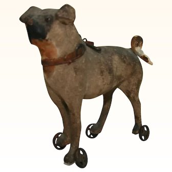 """Smaller """"pull toy"""" dog for your dolls"""