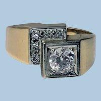 1970's 18K 14K Diamond Ring