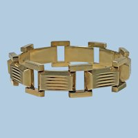1940's Retro 14K rose gold Bracelet