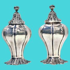 Novelty Silver Conch Shell Casters Peppers, London, 1834, William Hewitt