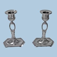 WMF Art Nouveau Jugendstil Candlesticks, Germany C.1910