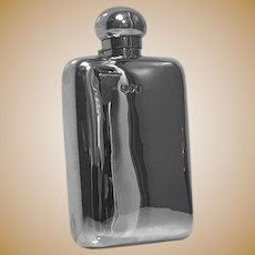 English Sterling Silver flask, London 1891, W and G Neal.