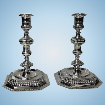 Carrington & Co heavy solid Sterling Candlesticks, London 1963,