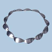 Hans Hansen sterling silver necklace Denmark C. 1968