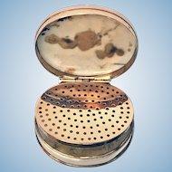 Rare Georgian Gold and moss agate Vinaigrette, C.1800
