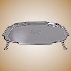 Asprey Sterling Silver Georgian style Salver, London 1911