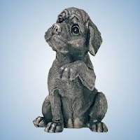Sterling Statue Sculpture of Spaniel Dog, C.1995