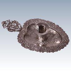 Late 19th century Dutch Silver Chamberstick, C.1900
