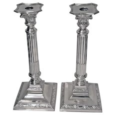 Pair Antique Silver Candlesticks, Germany, C.1900, H. Meyen & Co.