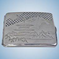 Fine Japanese 950 Silver Box Case, C.1920