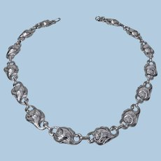 Carl Poul Petersen hand made Sterling Silver Necklace, Montreal C.1940