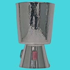 1970's Sterling Silver and Agate Goblet.