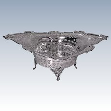 Fine Quality Antique Silver Basket, Birmingham 1908 by William Haseler