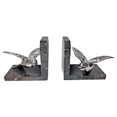 Pair Art Deco Bird Bookends, probably French C.1930