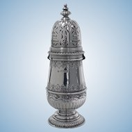 George 11 style Silver Caster, London 1912, S.W. Smith.