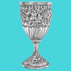Antique Gorham American Sterling Goblet, C.1890