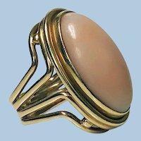 Fine custom Gold Coral 18K Ring, C.1970 Secrett
