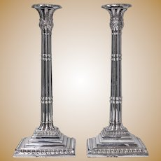 Georgian Silver Candlesticks, London 1759 John Carter