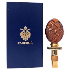 Bottle Stopper Faberge Collection Amber Crystal