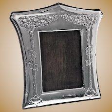 Art Nouveau English Silver Photograph Frame, Birmingham 1903, Charles Green