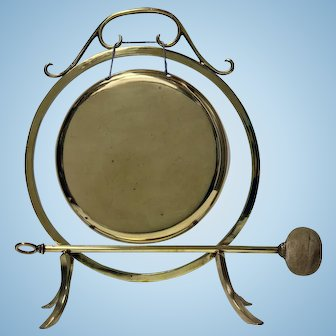 Antique Brass Dinner Gong, English C.1900
