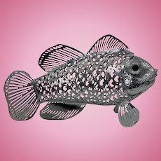 Christofle Lumiere Collection Fish Figurine.