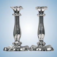 Pair of Austrian Silver Candlesticks Vienna 1840