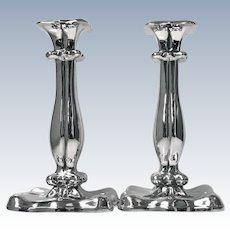 Pair of Austrian Silver Candlesticks Vienna 1840