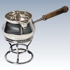 Garrard Silver Brandy Saucepan and Stand, London 1916
