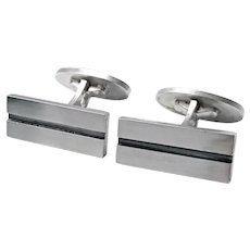 Georg Jensen Art Deco style Sterling Cufflinks No 114.