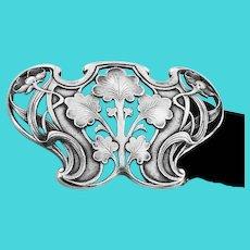 Gorham Art Nouveau Sterling Buckle 1902.
