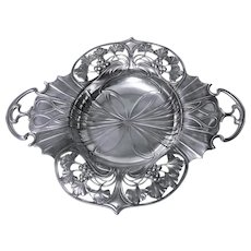 WMF Art Nouveau Pewter two handled Dish Bowl, Germany C.1900.