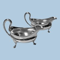 Georgian Silver Sauceboats, London 1793, John Wakelin and Robert Garrard