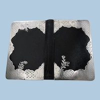 Antique Silver and Leather Notepad Wallet, London 1878, Henry Dee.
