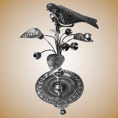 Rare Antique Silver Toothpick Holder, Rio de Janeiro Brazil C.1850