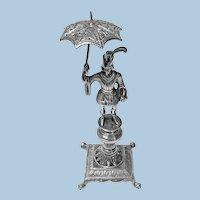 Antique Silver toothpick cocktail stick holder, Rio de Janeiro, Brazil, circa 1850