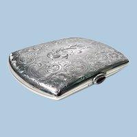 Sterling Silver Cigarette or Card Case, American C.1920.